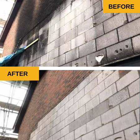 brick wall clean-up (commercial)